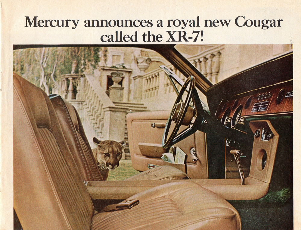 Cougar car ad from 1967